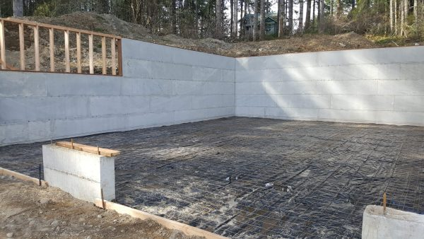 Foundation and Retaining Wall for ADU
